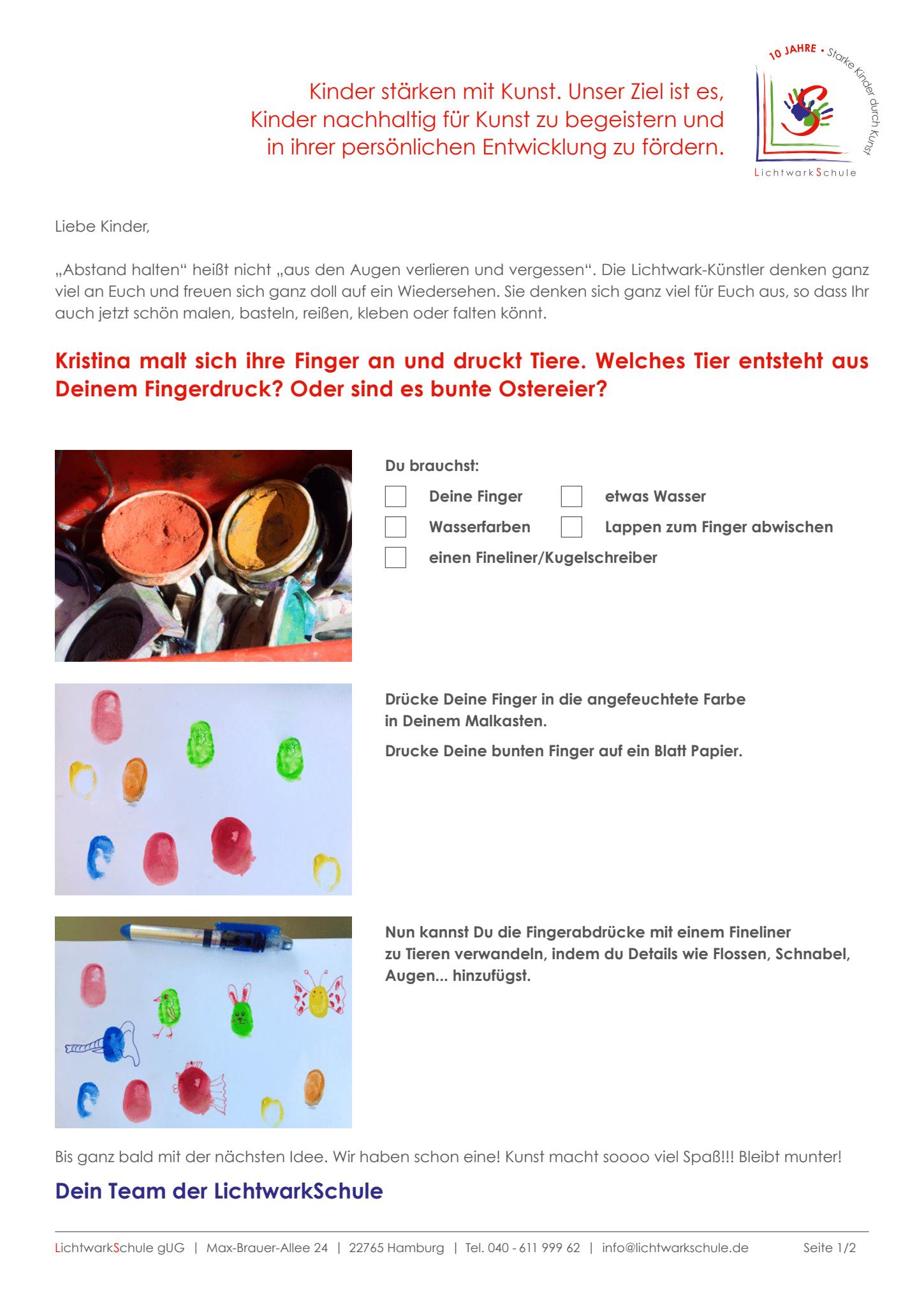Grundschule Kroonhorst Ganztagsschule An Der Osdorfer Feldmark 5 Fingerabdrucke